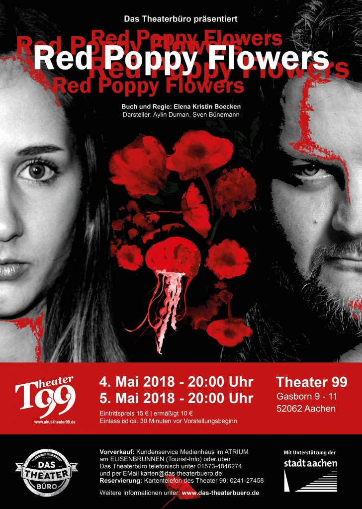 Red Poppy Flowers - Das Theaterbüro - Aachen